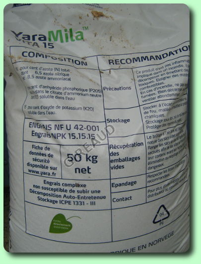 La fertilisation les dossiers for Engrais 3 fois 15