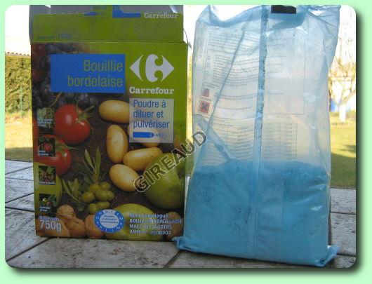 La bouillie bordelaise les traitements biologiques du jardin - Traitement arbres fruitiers avec bouillie bordelaise ...